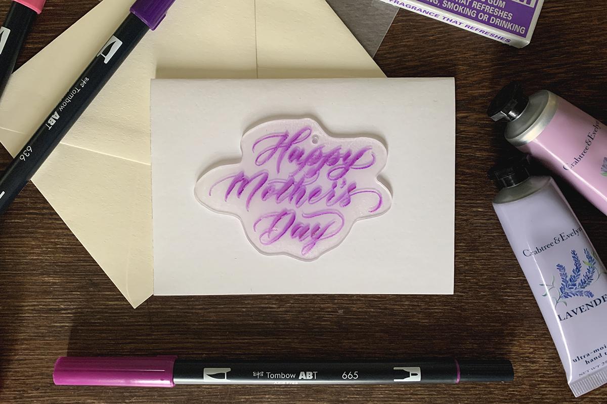 母の日レタリング