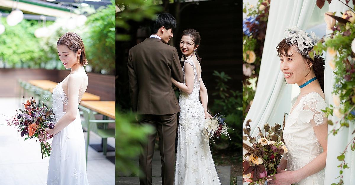スレンダードレス最新トレンド!おしゃれ花嫁が選ぶウェディングドレス12選