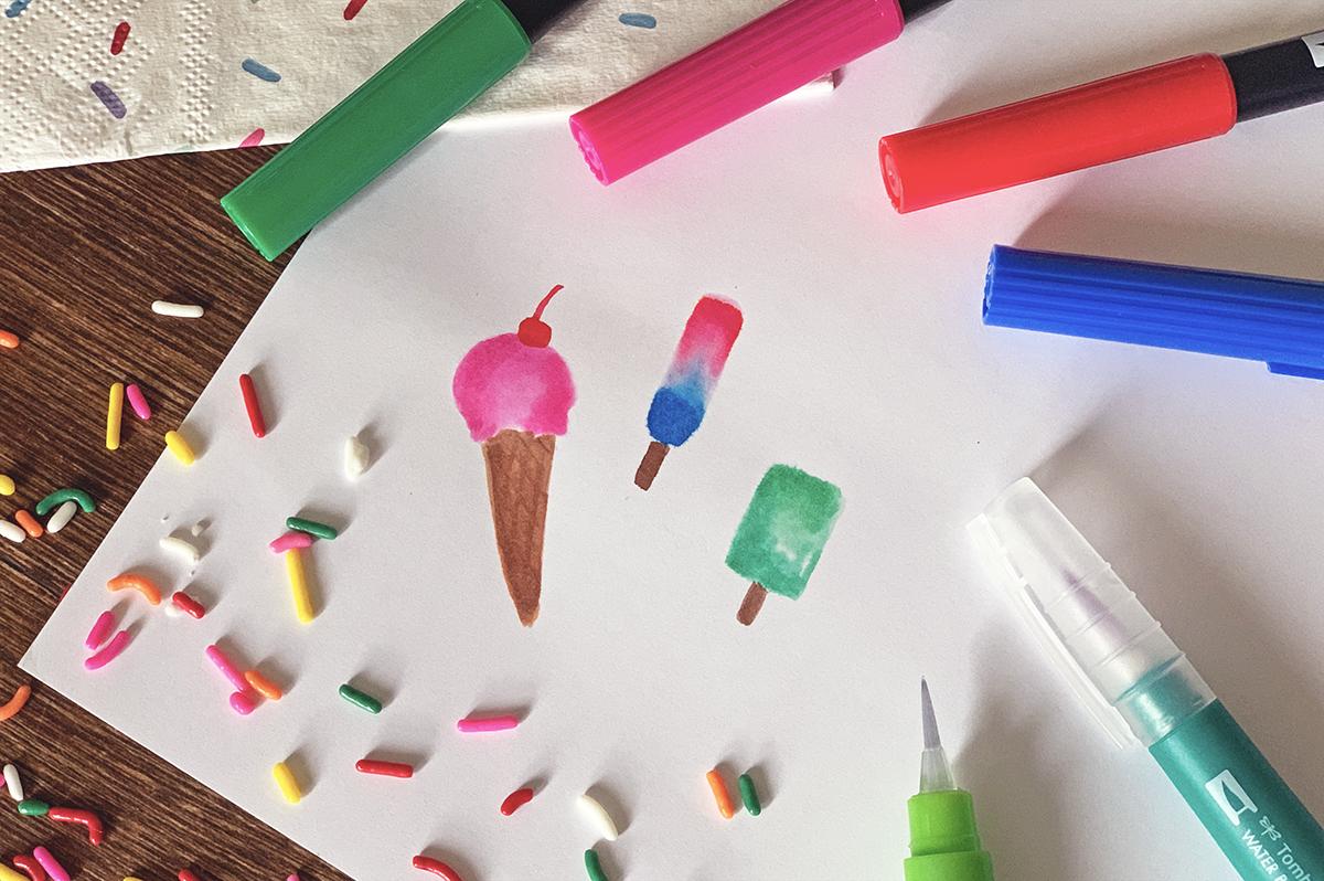 水彩アイスクリーム