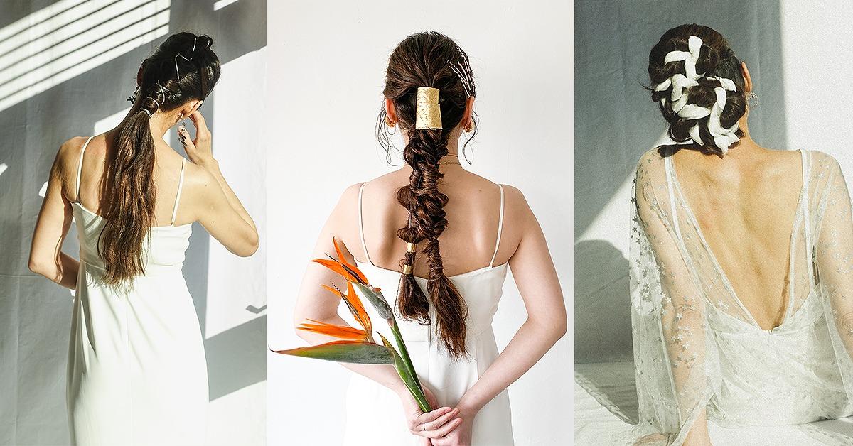 個性派花嫁さんに!誰ともかぶらない理想のウェディングヘアを見つける
