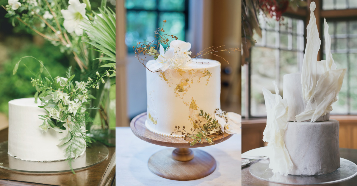 ウェディングケーキの新定番。シンプルなホワイトケーキ実例8選