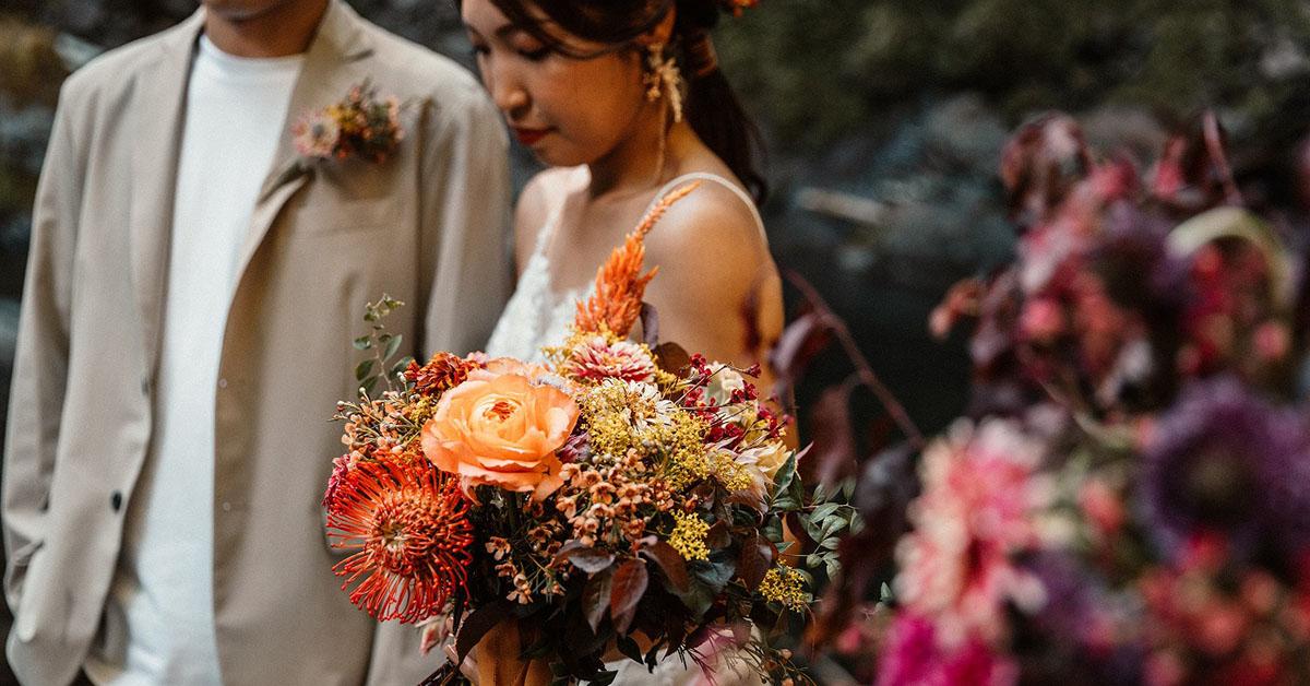 WILD ELOPEMENT WEDDING WATERFALL