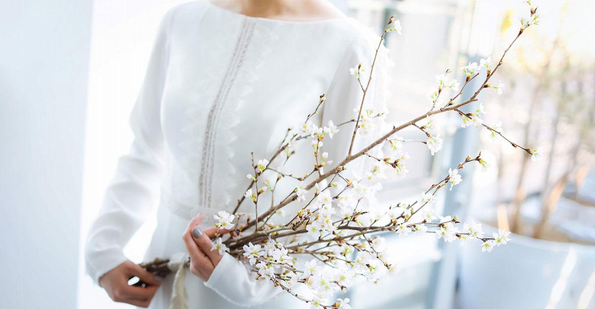 """おしゃれ結婚式で最近よく見る""""枝ブーケ""""って?魅力を徹底解説!"""