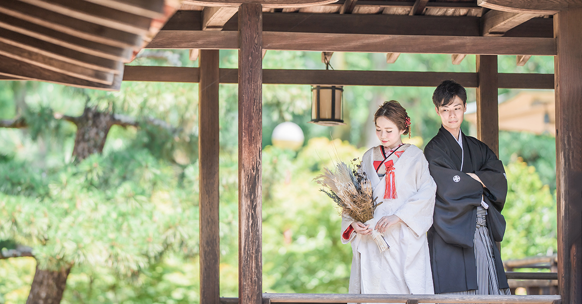 オシャレ花嫁さんに大人気。THE DRESS ROOMの京都撮り着物プランをご紹介