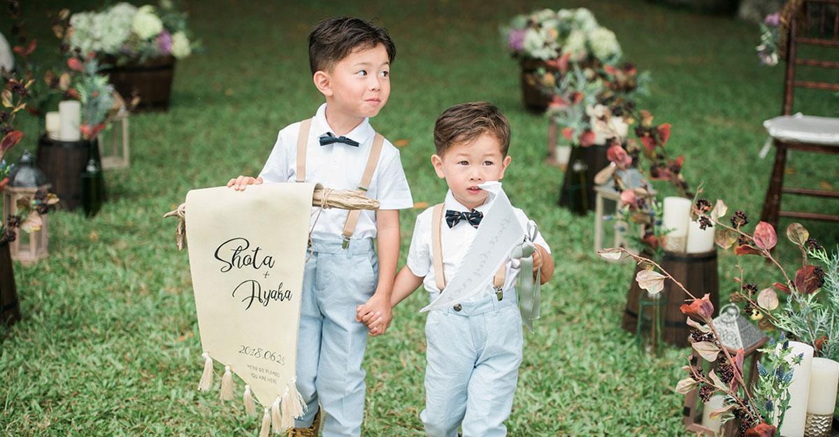 結婚式に子供を招待したい!素敵な演出&気を付けたいことまとめ