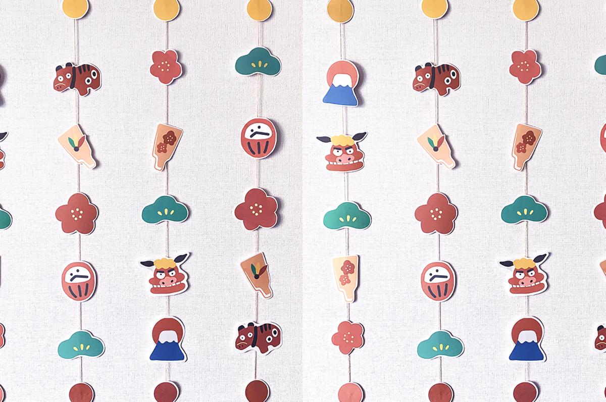 お正月の吊るし飾り