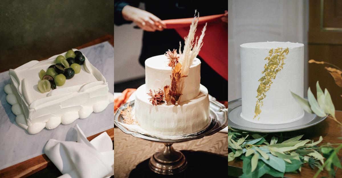 シンプルが一番おしゃれ。ウェディングケーキデザインの最新トレンド15選