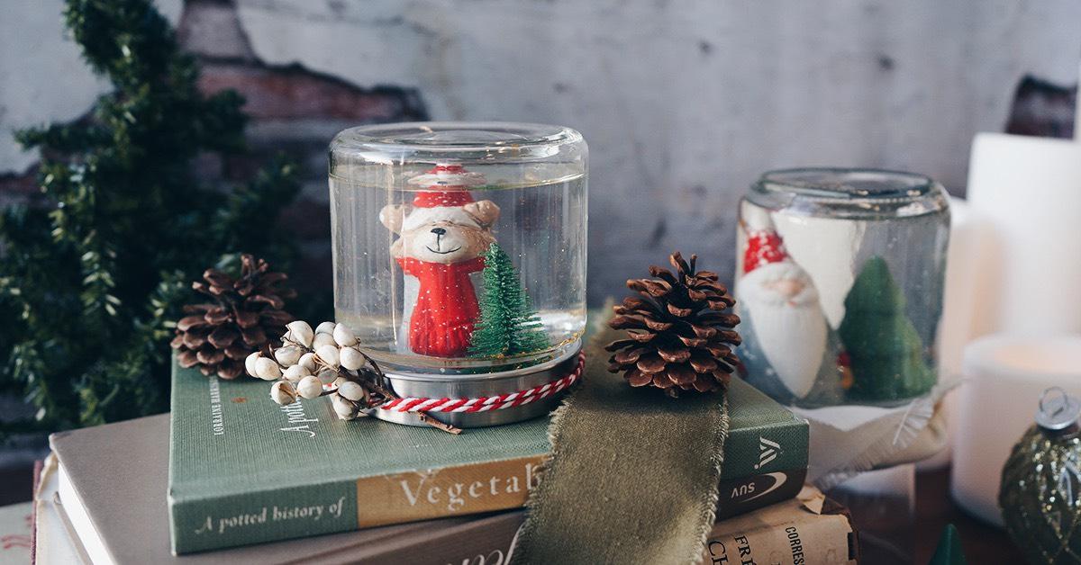 クリスマス「スノードーム」の作り方 | おうちでお手軽4ステップ