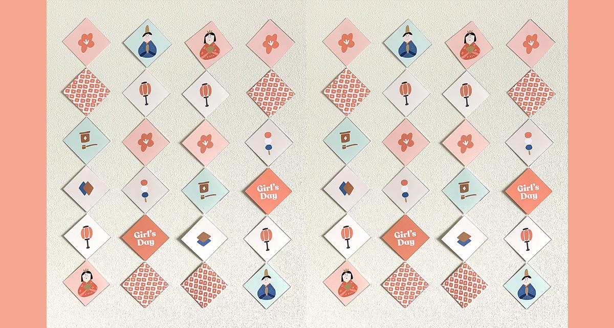 ひな祭り|無料テンプレートで簡単!手作り「吊るし雛」