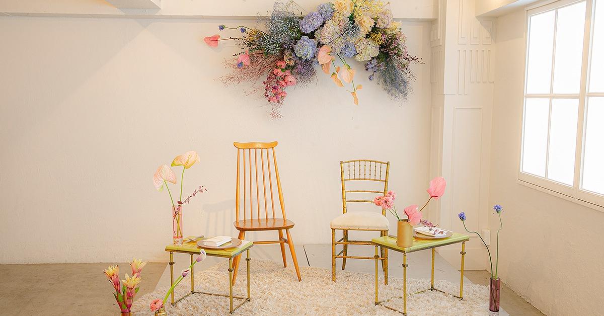 キーワードは抜け感と余白。シンプルおしゃれな高砂装花の実例7選