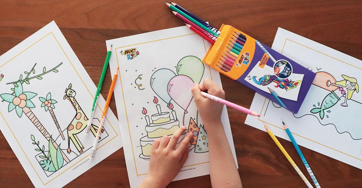 プレゼント企画|まるで魔法!消しゴムできれいに消える「BICキッズ 消せる色鉛筆 12色」